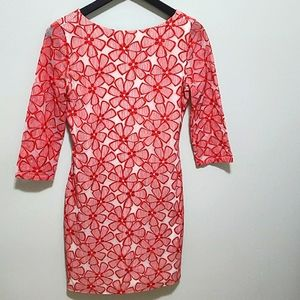 🍷DVF Red Sarita Lace Dress Size 2